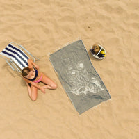 Nuka (Black Skull) Beach Towel