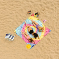 Bright Iris XXL Tie-Dye Beach Towel