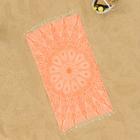 Pure Annabel (Orange Mandala) Beach Towel