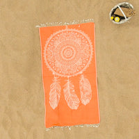 Ayleen (Orange Dreamcatcher) Beach Towel