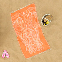 Orange Elephant Beach Towel