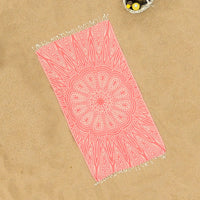 Mystic Flynn (Red Mandala) Beach Towel