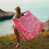 Aaliya Pink Elephant Beach Towel - Cotton Fellas