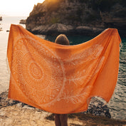 Ayleen (Orange Dreamcatcher) Beach Towel - Cotton Fellas