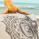 Black Hamsa Beach Towel - Cotton Fellas