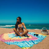 Bright Iris (Goddess of the Rainbow) XXL Beach Towel - Cotton Fellas