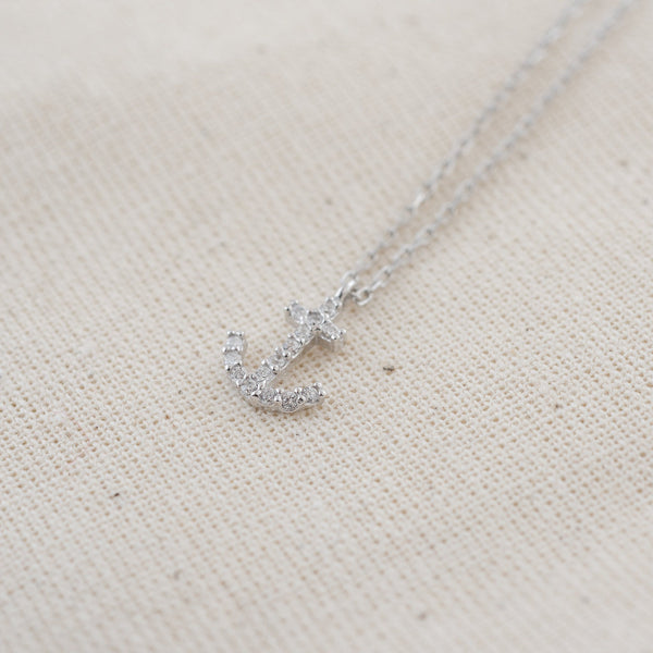 Kelsey Silver Anchor (925 Sterling Silver) Necklace