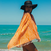 Pure Annabel (Orange Mandala) Beach Towel - Cotton Fellas