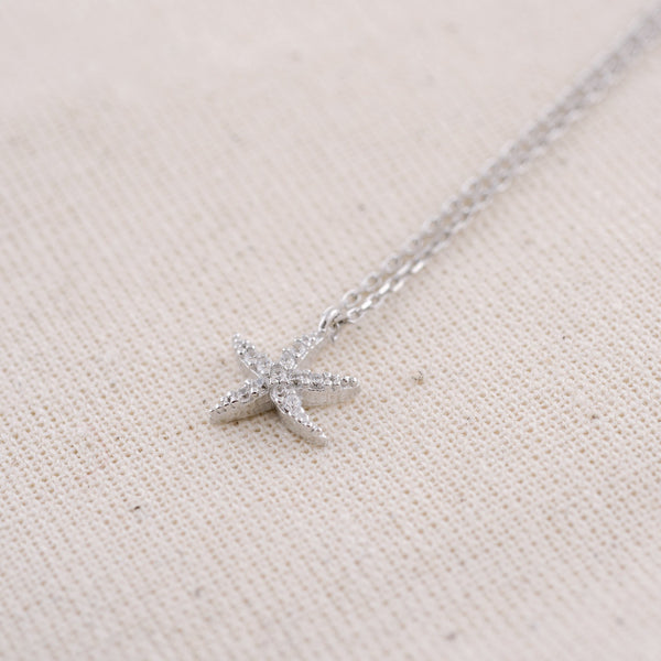 Silver Astérie (925 Sterling Silver) Starfish Necklace