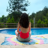 The Iris (Goddess of the Rainbow) Beach Towel - Cotton Fellas