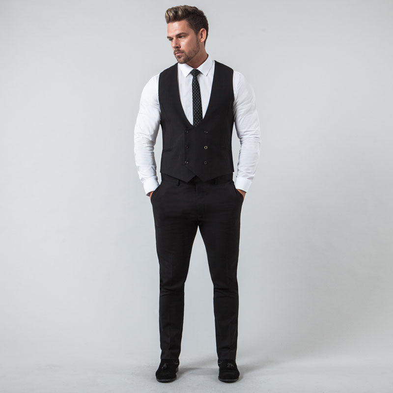 Black Muscle Fit Suit
