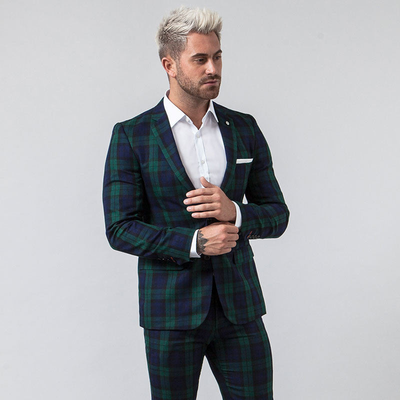 Black Watch Tartan Slim Fit Blazer