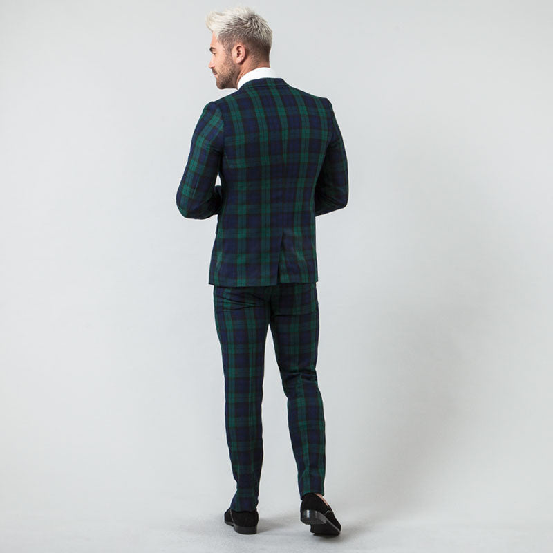 Black Watch Tartan Muscle Fit Suit