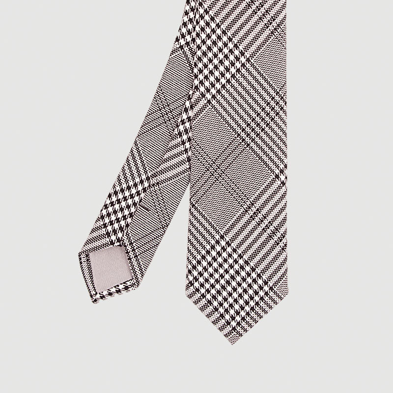 Charcoal Check Skinny Tie