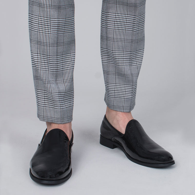 Black Patent Slip-on Shoes