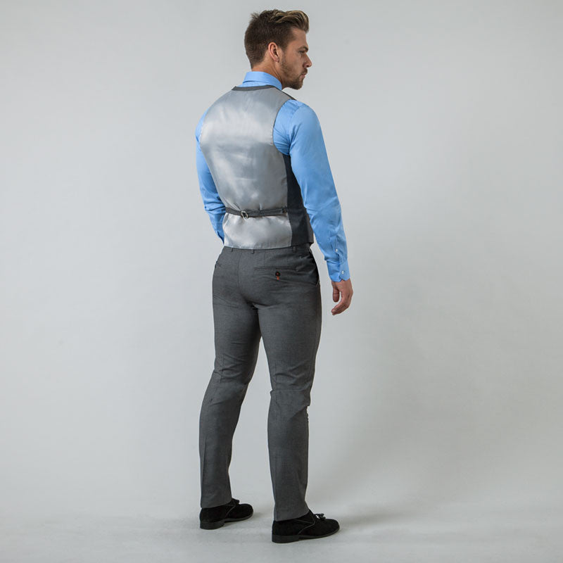 Grey Muscle Fit Suit
