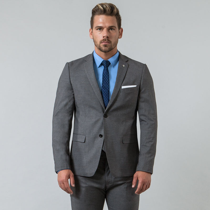 Grey Muscle Fit Blazer