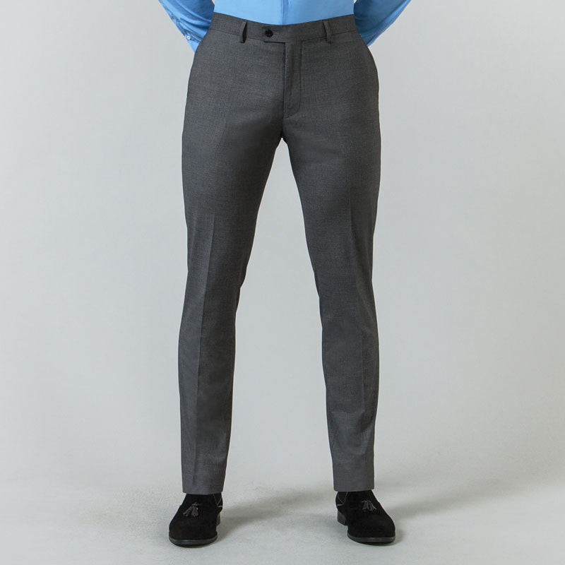 Grey Suit Muscle Fit Trousers