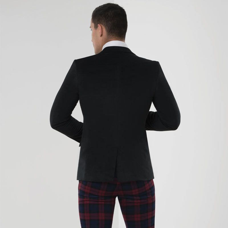 Black Velvet Skinny Fit Suit Jacket