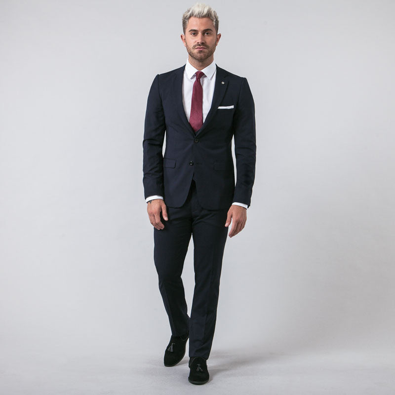 Navy Muscle Fit Suit