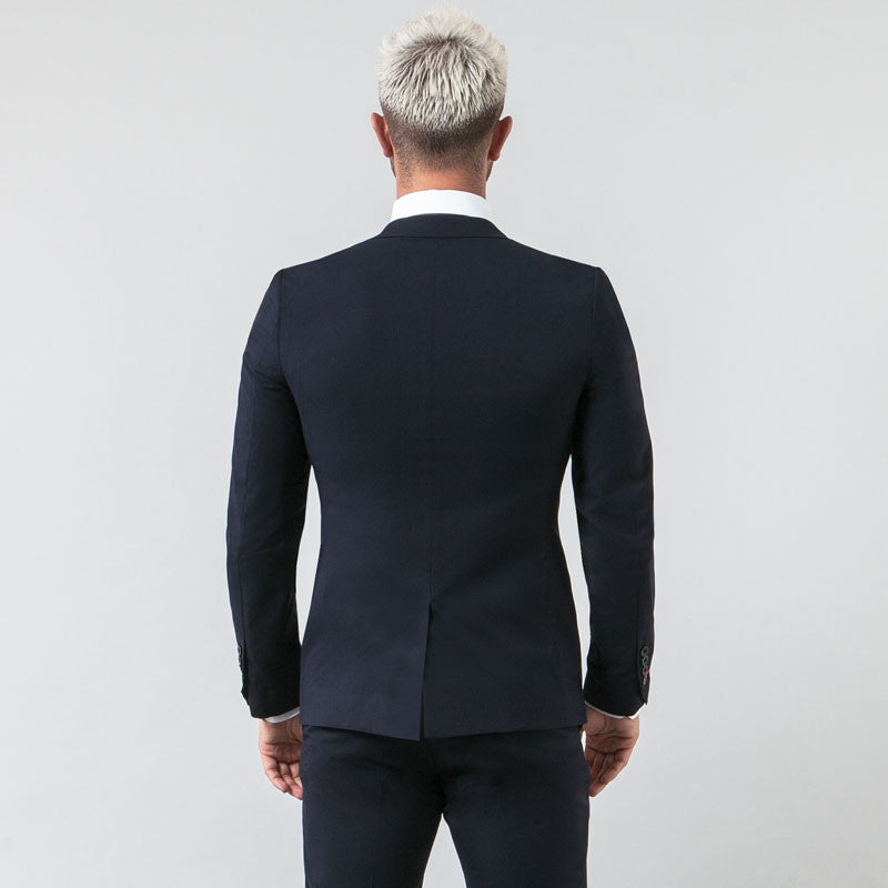 Navy Muscle Fit Blazer