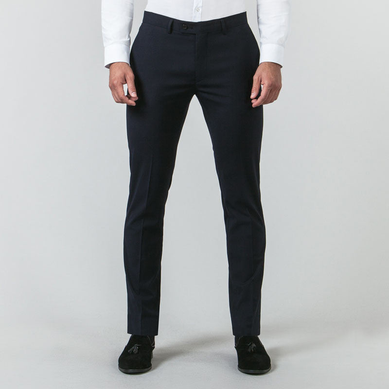 Navy Suit Muscle Fit Trousers
