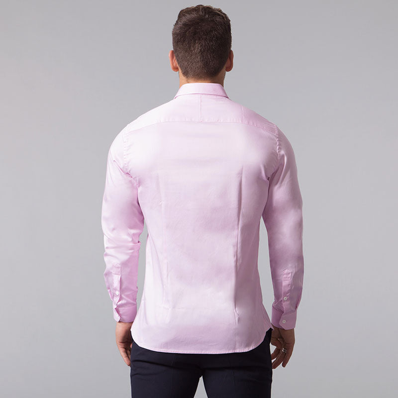 Light Pink Muscle Fit Shirt