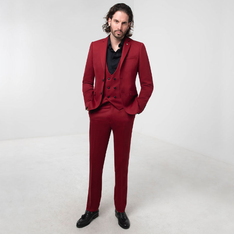 Chilli Red Skinny Fit Suit