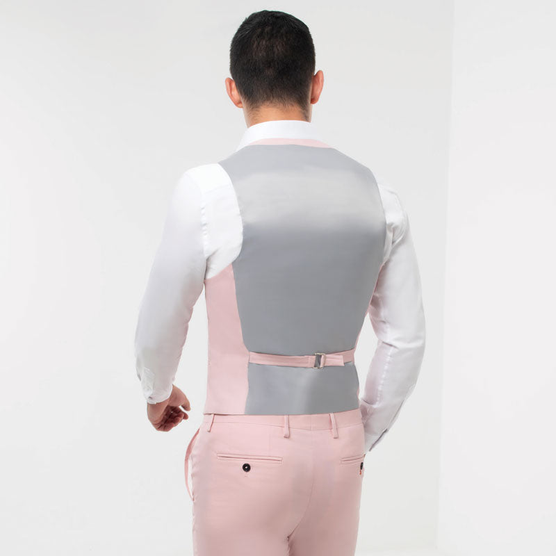Light Pink Double Breasted Waistcoat