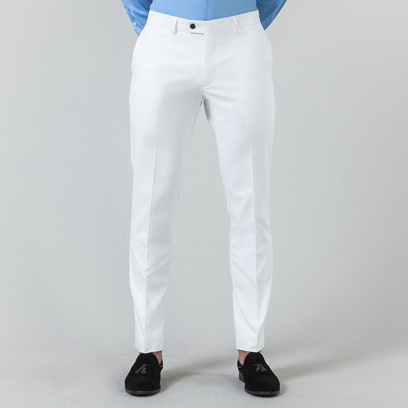 White Suit Trousers