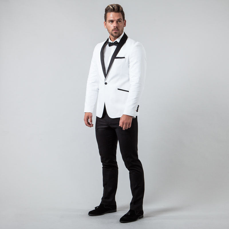 White Muscle Fit Tuxedo