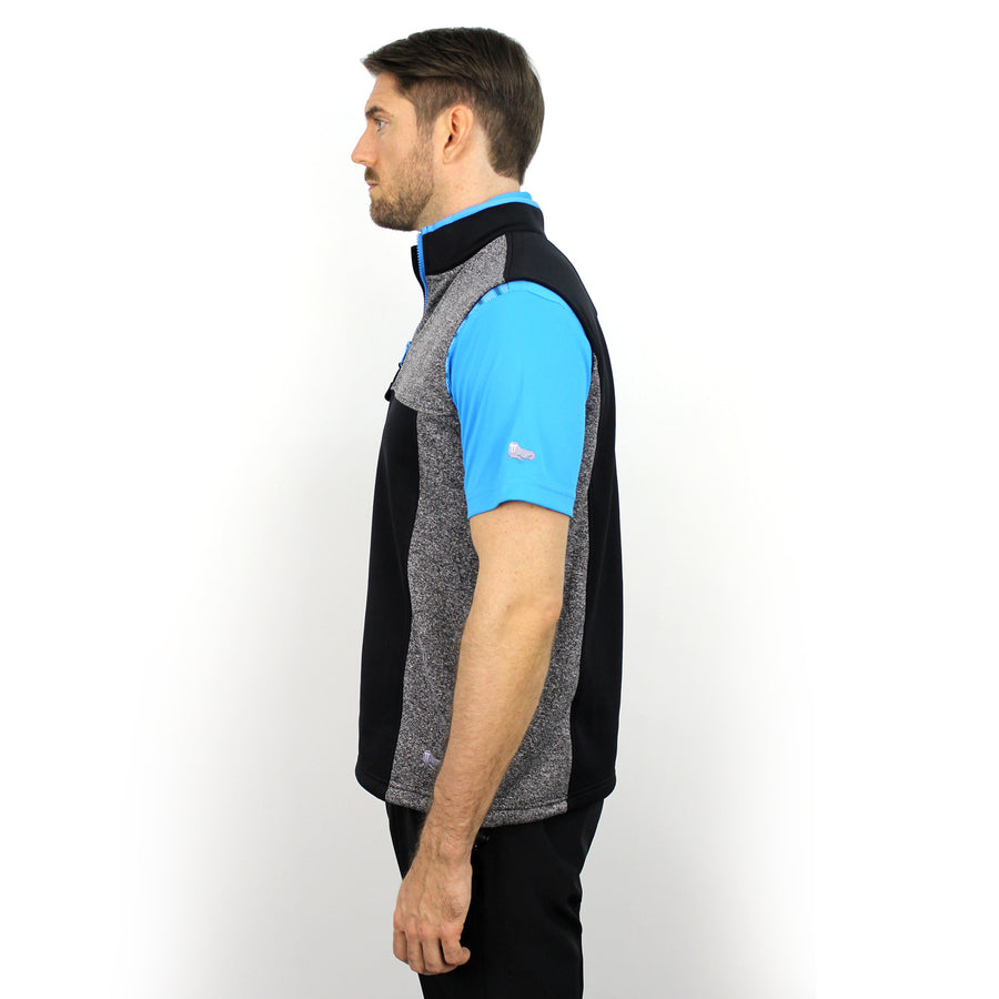 Walrus Percy 1/4 Zip Sleeveless Golf Pullover Charcoal
