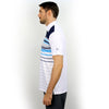 Walrus Frank Colour Stripe Polo Shirt Estate Blue