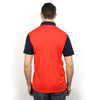 Walrus Ken Colour Block Mens Golf Polo Shirt Fiesta Red