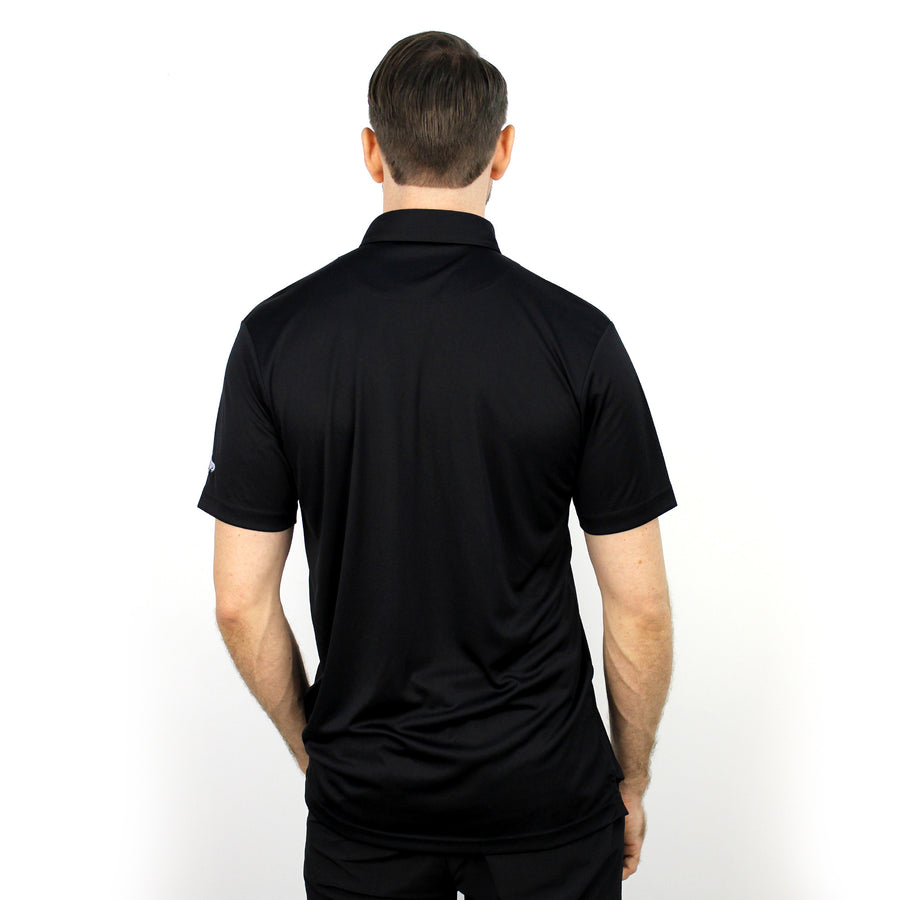 Walrus Henry Solid Mens Golf Polo Shirt Black