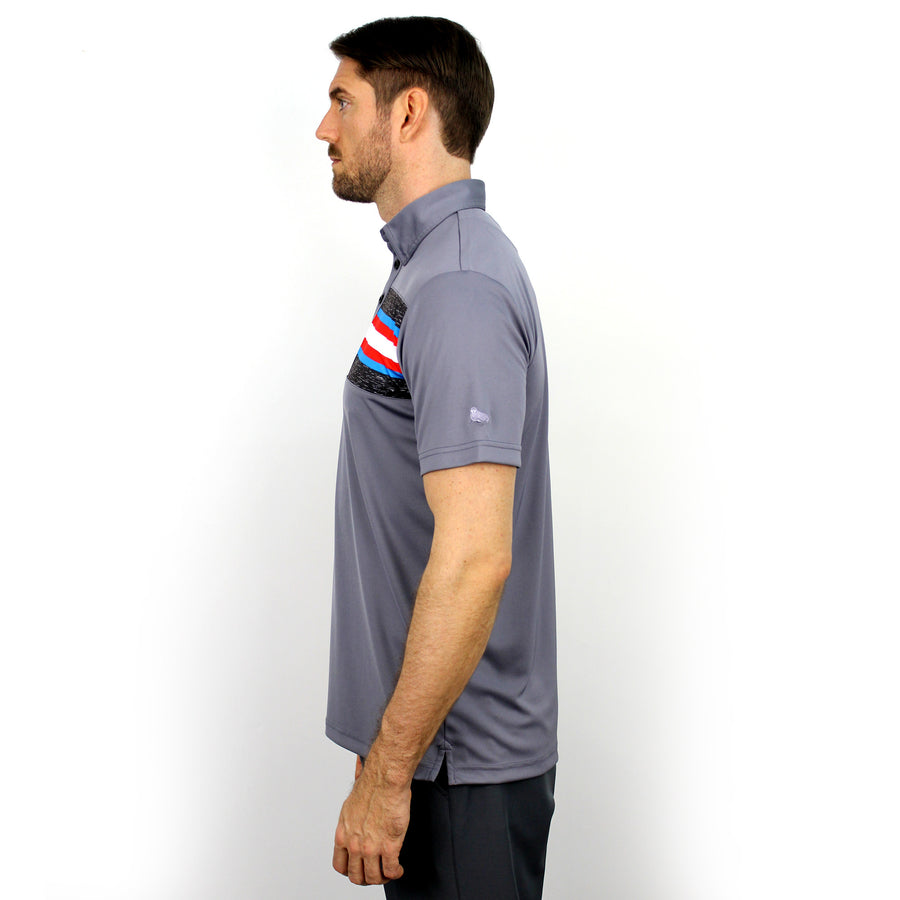 Walrus Benjamin Chest Block Stripe Golf Polo Shirt - Street