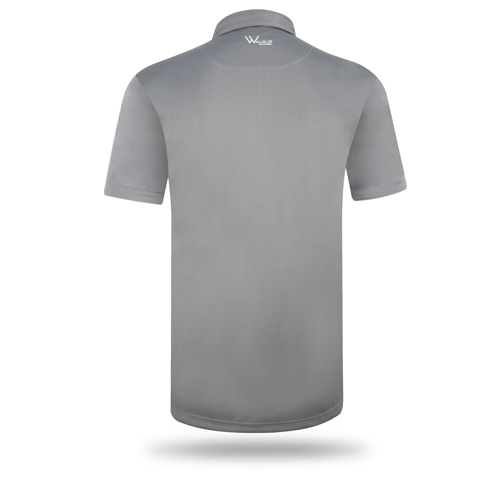 Dixon Block Stripe Mens Golf Polo Shirt - Grey/Niagra