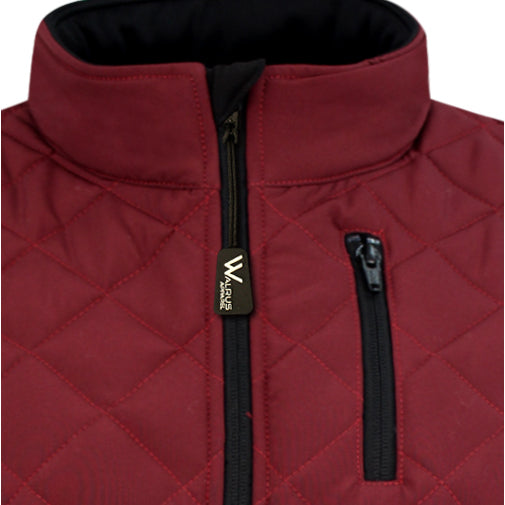 Brayden Padded Golf Gilet -Dark Red/Black