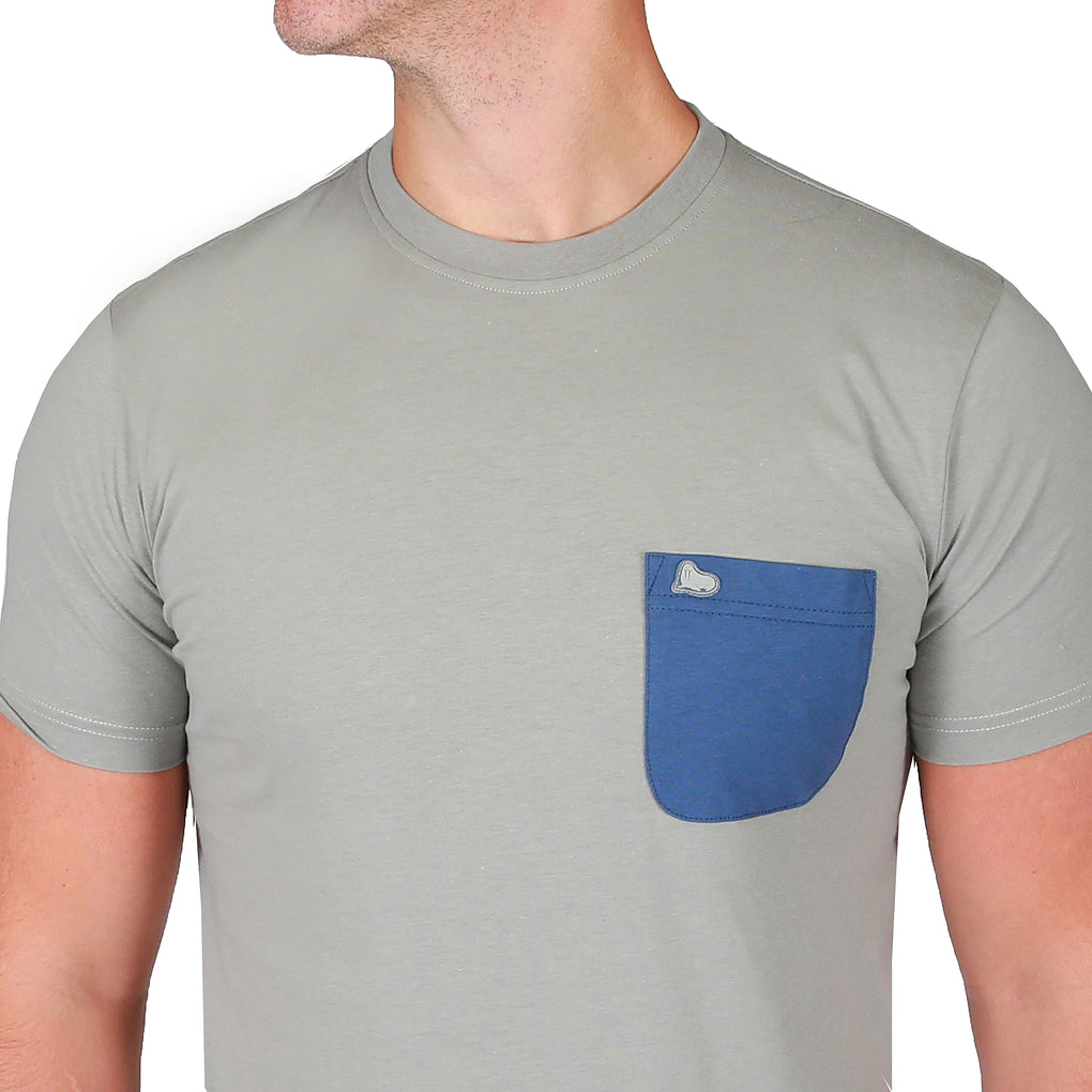 James Pocket Tee Shirt - Neutral Grey