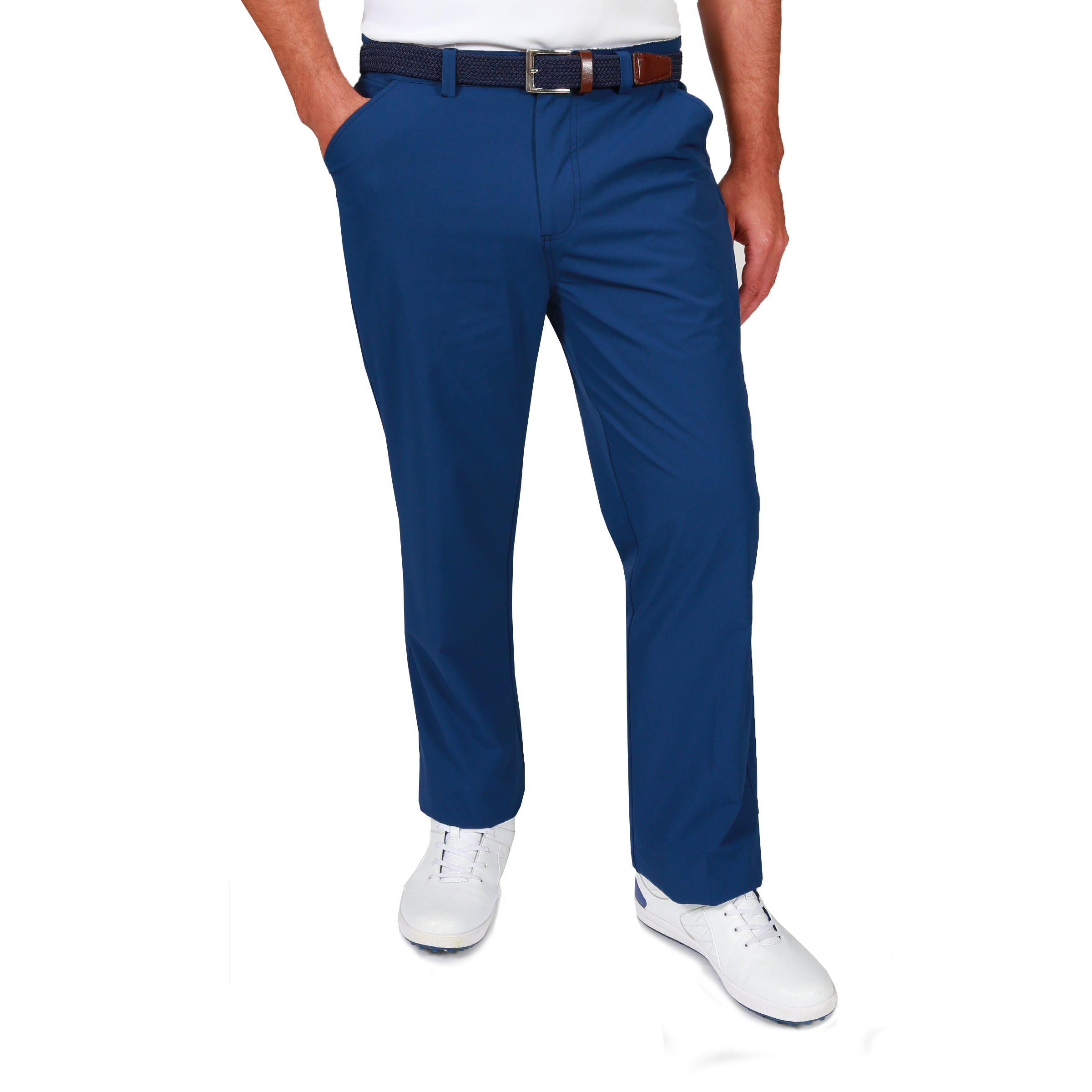 Ivan Water Repellent Golf Trousers - Navy Peony by  Walrus Apparel