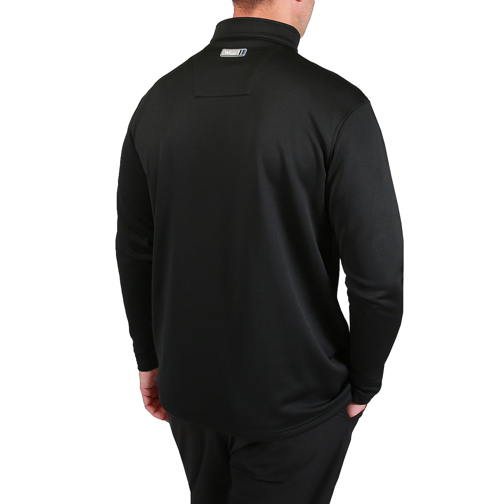 Bradley 1/2 Zip Stripe Pullover - Black