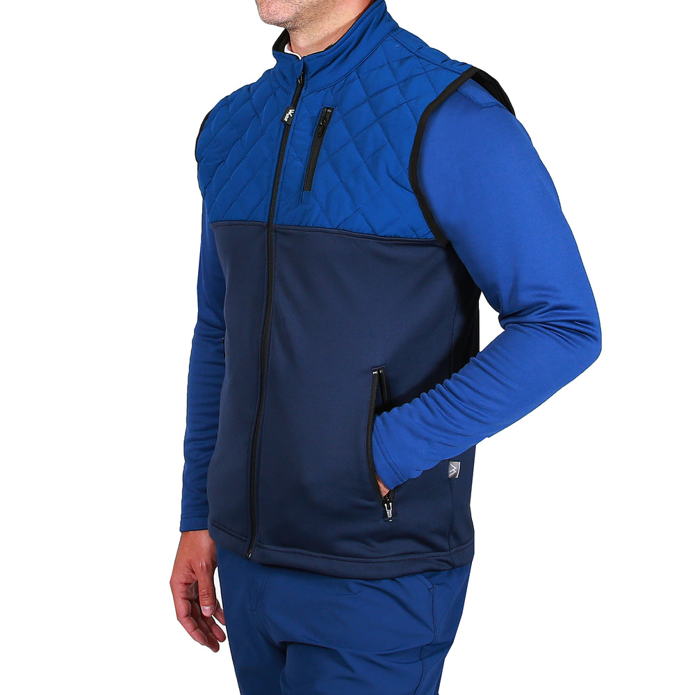Brayden Padded Golf Gilet - Navy/Navy