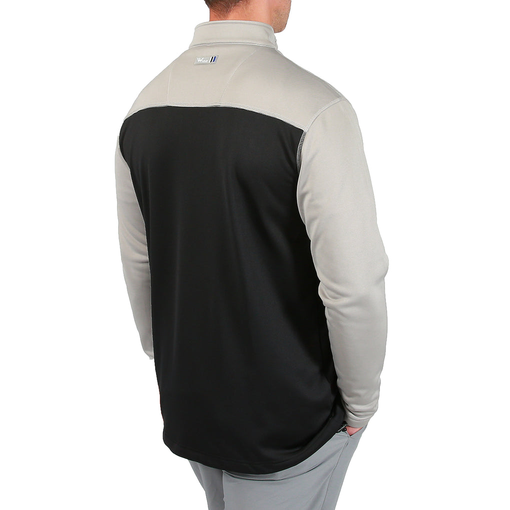 Robert 1/4 Zip Cover Up - Neutral Grey/Black