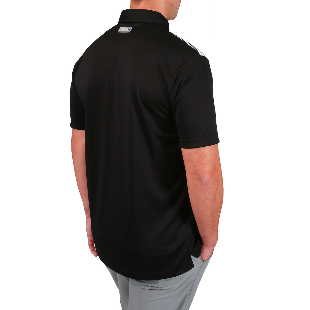 Lucas Chest Stripe Golf Polo Shirt - Black