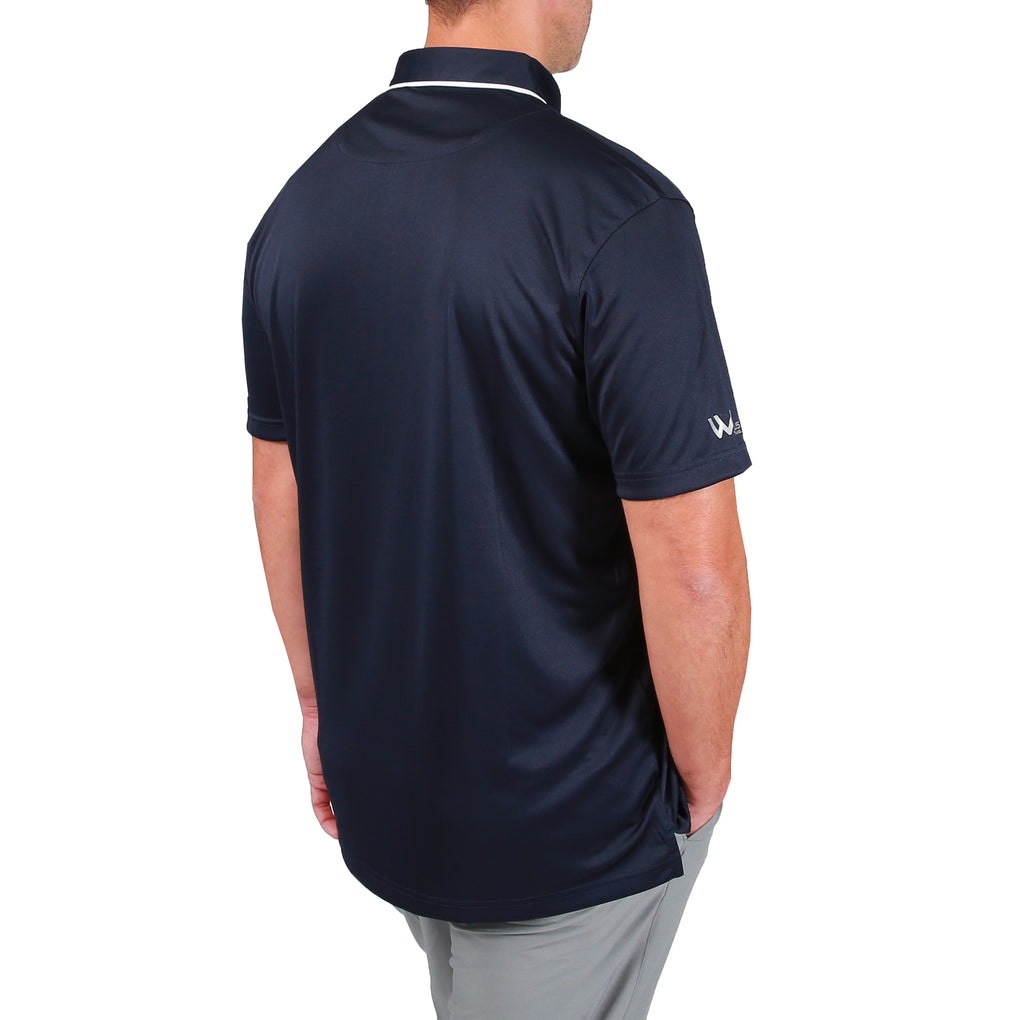 Walrus Jack Tipped Collar Mens Golf Polo Shirt - Navy