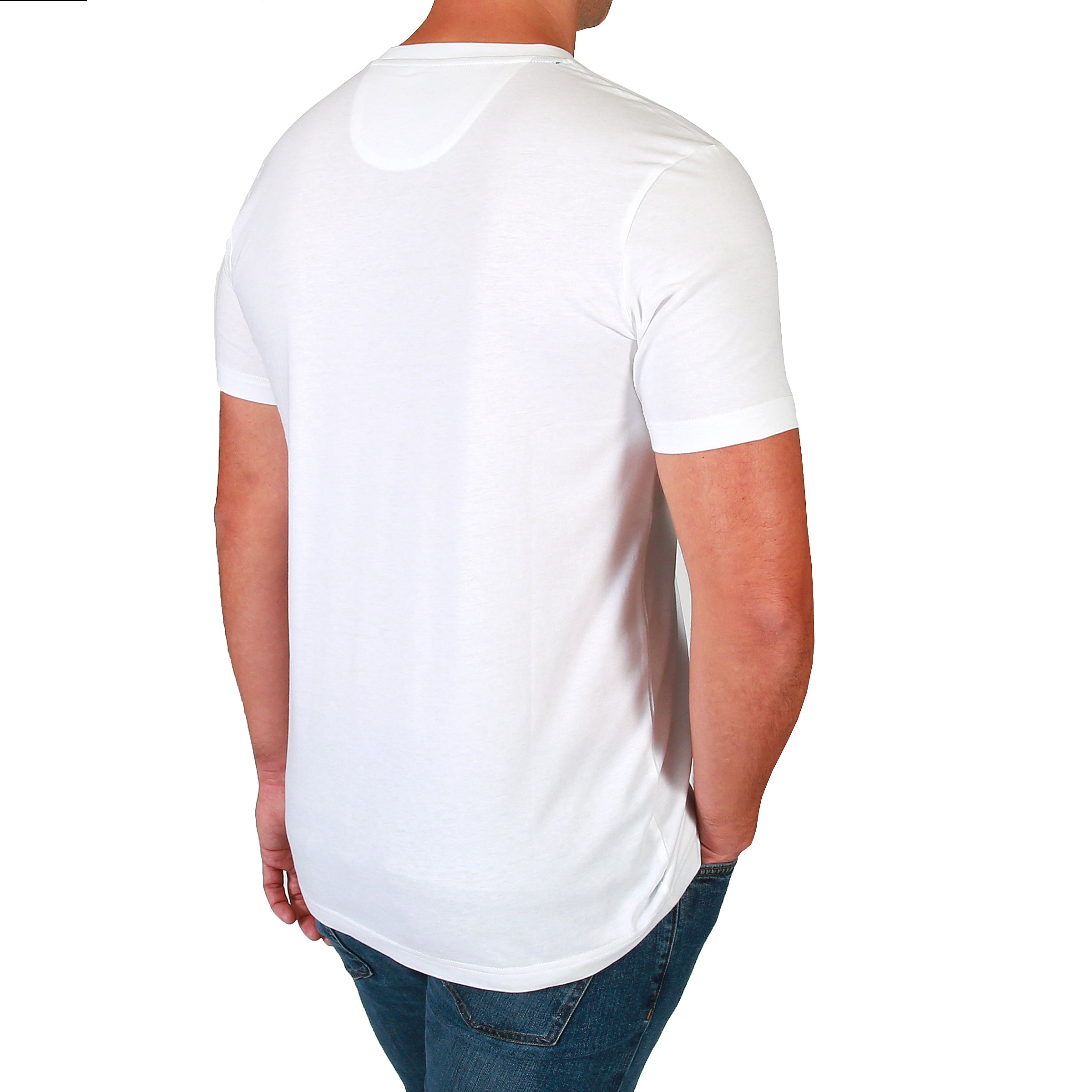 Theo V-Neck Tee Shirt - White by  Walrus Apparel