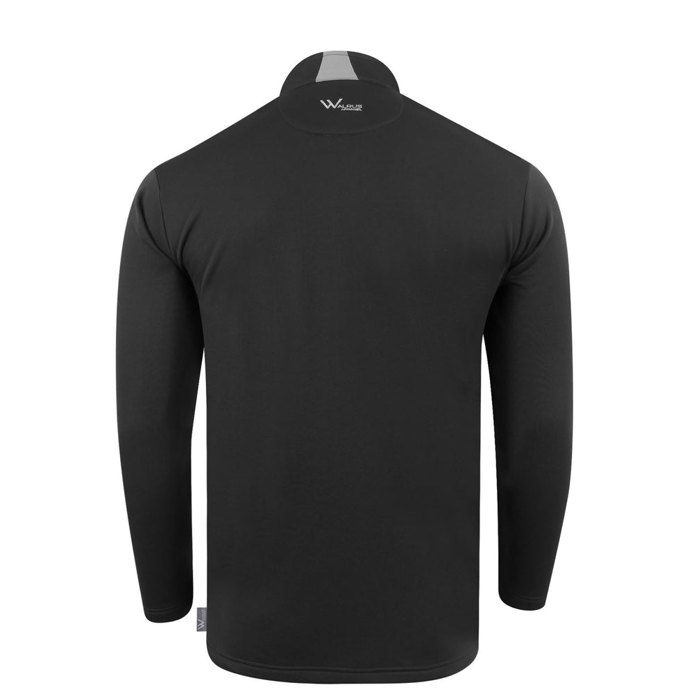 Brody Chest block mens golf midlayer - Jet Black
