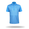 Walrus Colin Chest Stripe Golf Polo Shirt Hawaii Blue
