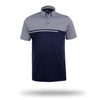 Walrus Ken Colour Block Mens Golf Polo Shirt Estate Blue