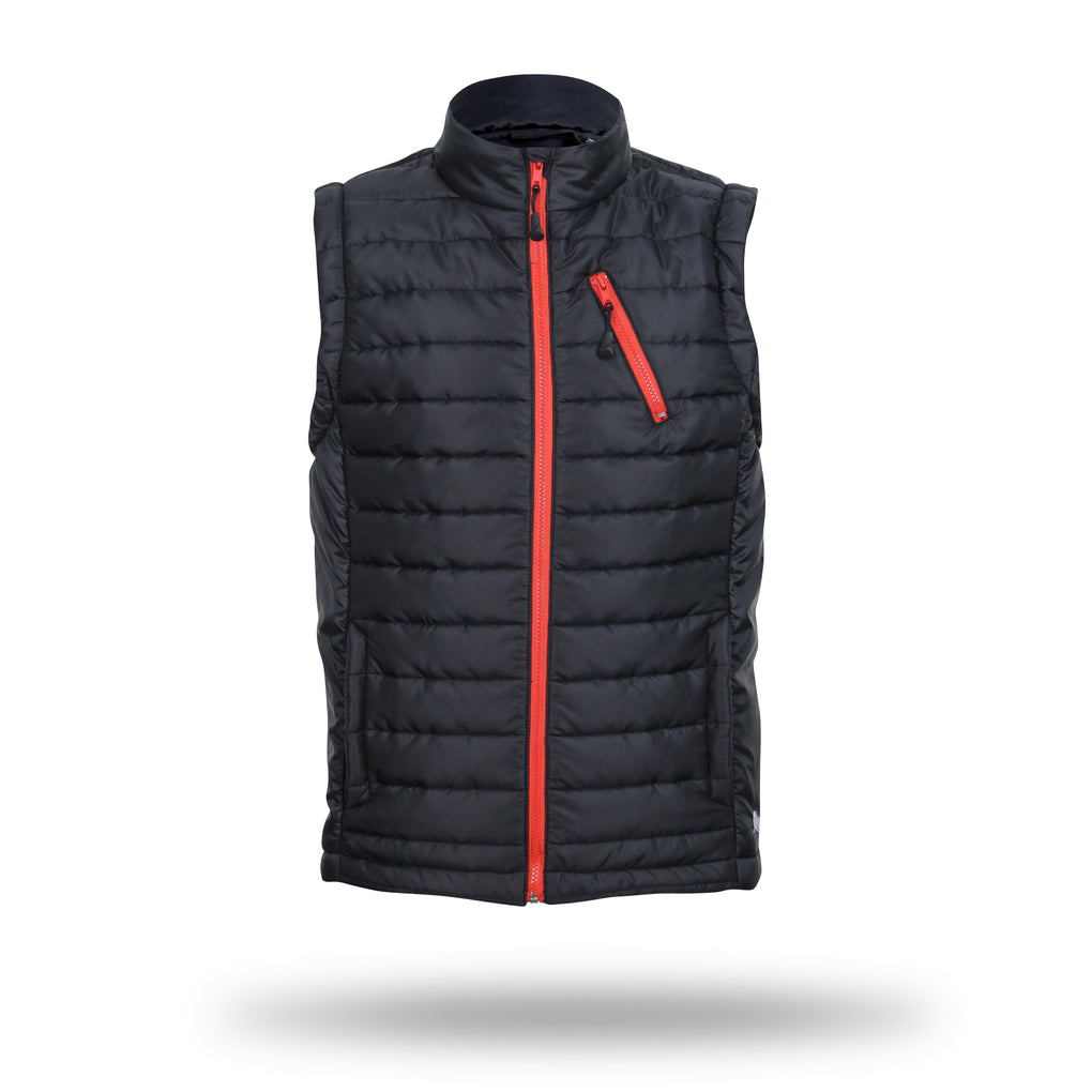 Walrus Backham Full Zip Sleeveless Puffa Gilet Black